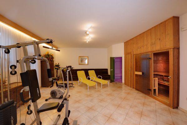 Fitnessraum im Appartement Riederhof
