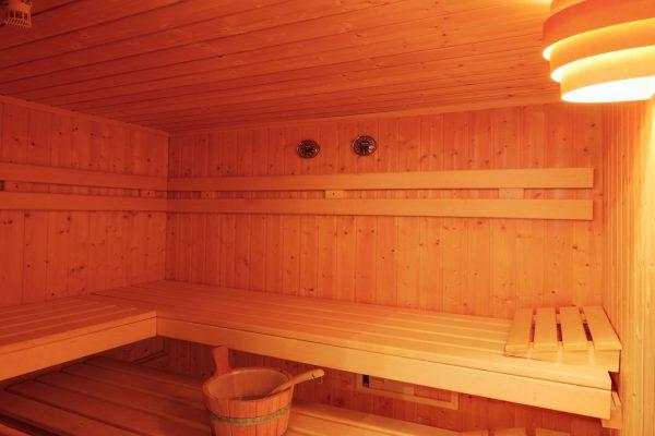 Sauna im Appartement Riederhof
