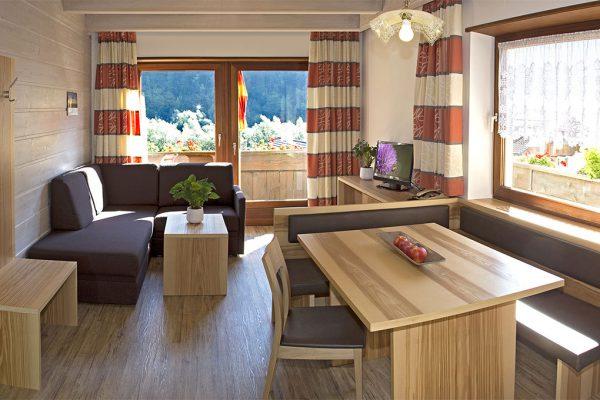 Appartement Riederhof- Ferienwohnung in Passeiertal: Wohnraum