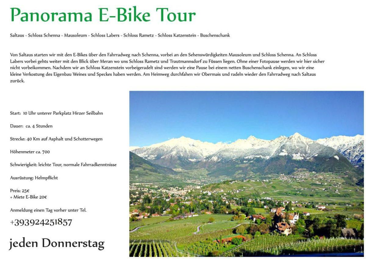 Panorama E-Bike Tour Passeiertal - Schenna